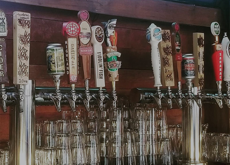 Variety of beers on tap at The Quiet Pint.