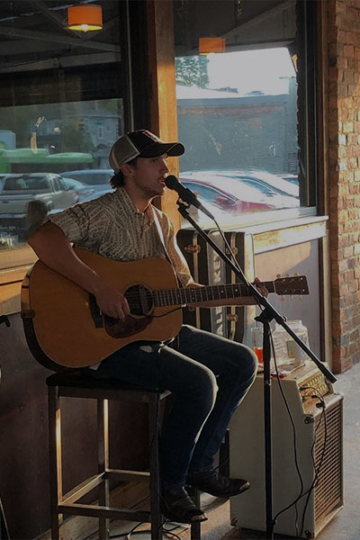 Live music performer at The Quiet Pint.
